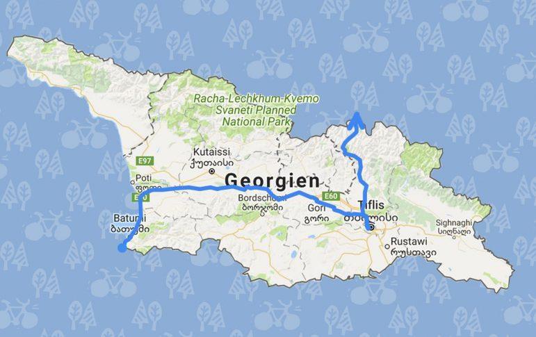 Georgien Karte.Georgien Vom Schwarzen Meer Bis In Den Kaukasus Rausgefahren