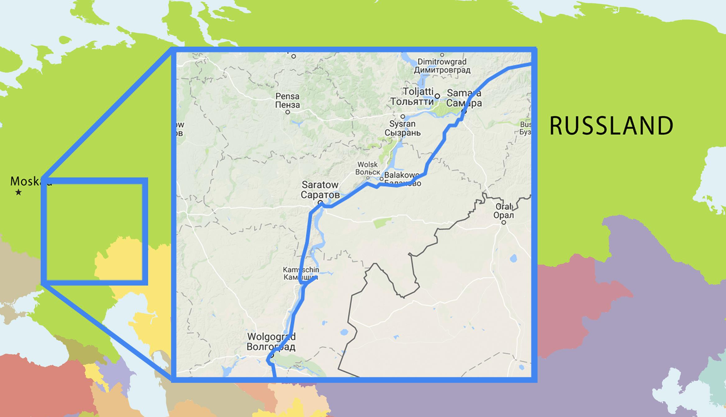 Russland Karte Europaisches Russland Bis Zum Ural
