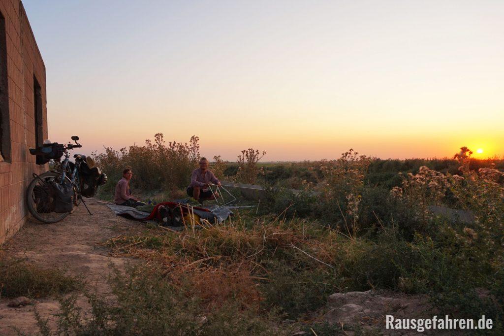 Zelten Usbekistan